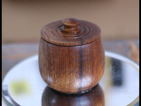 Turning a Miniature Lidded Container with Sam Angelo