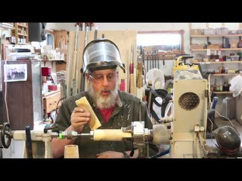 Turning a Decorative,  Hollow Tube     with  Sam Angelo