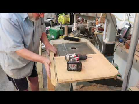 Add-on tables for Delta Bandsaw and Drill press:  Sam Angelo wyomingwoodturner