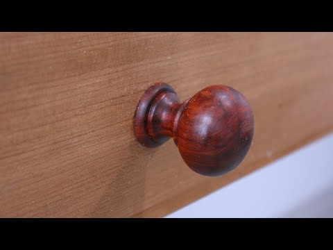 Turning A Shaker Style Drawer Pull ....with Sam Angelo