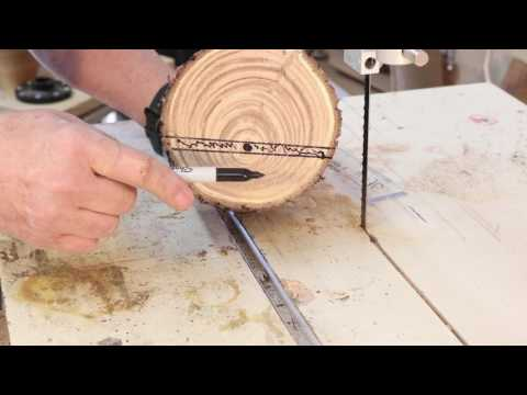 Milling a Bowl blank on the Bandsaw:   woodturning with Sam Angelo