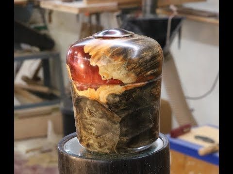 Turning a Decorative Inlay for a Lidded Box--Sam Angelo (wyomingwoodturner)
